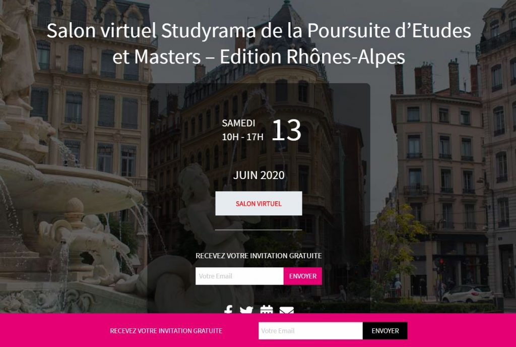 l'Institut G4 au Salon Virtuel Studyrama Lyon Juin 2020