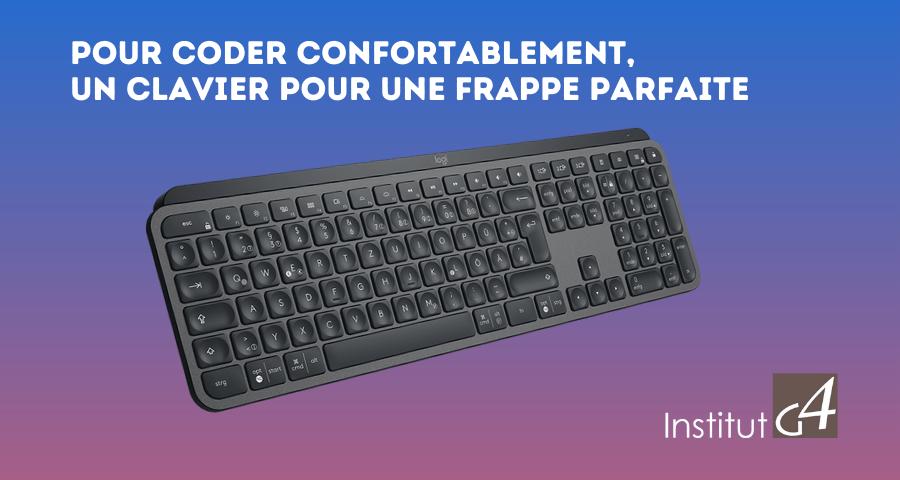 Institut G4 offre le clavier Logitech MX Keys Advanced Clavier sans Fil Rétroéclairé à tous les nouveau alternants pour la Rentrée 2020